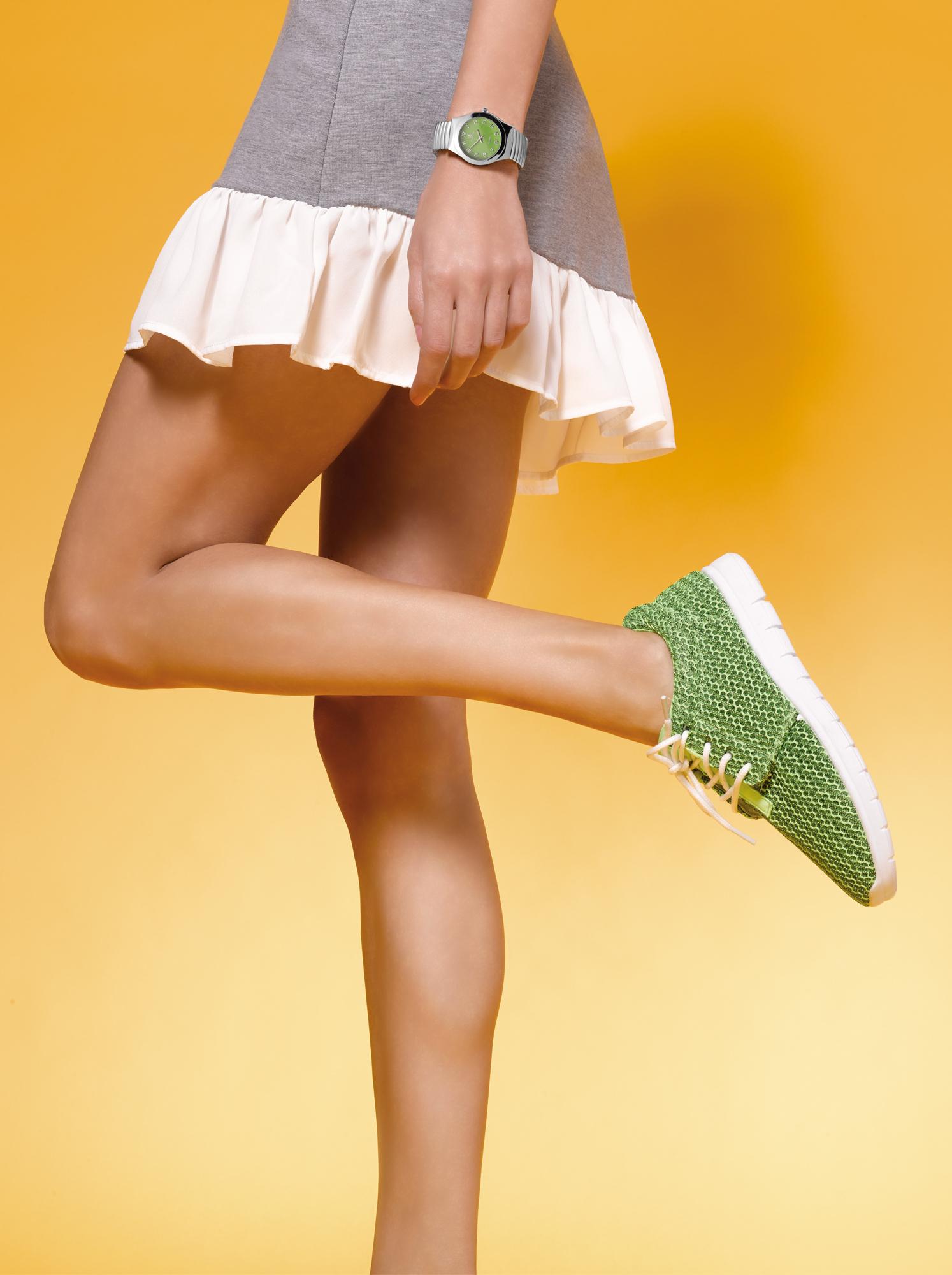 Zapatillas VENCA deportivas acolchadas verde mujer - 442011