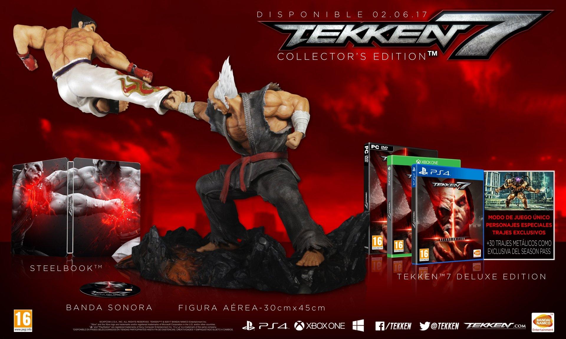 Tekken 7 Edición Coleccionista con figura