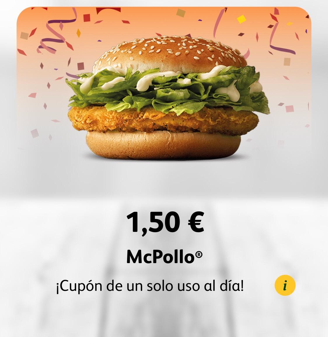 McPollo por 1,50€ ! Solo hoy