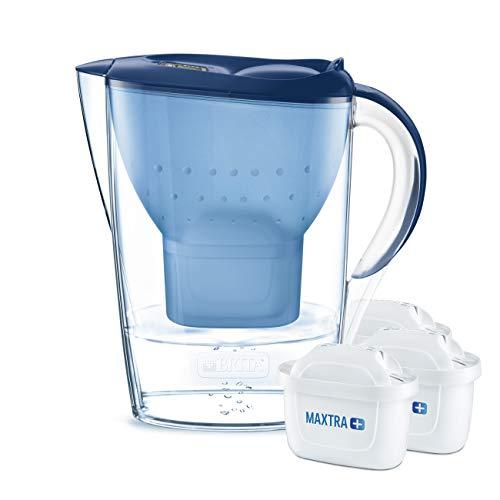 BRITA Marella – Jarra de Agua Filtrada con 3 cartuchos MAXTRA+ – Filtro de agua BRITA que reduce la cal y el cloro