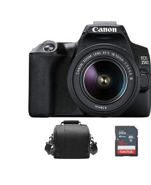Canon CANON EOS 250D KIT EF-S 18-55mm F3.5-5.6 III Negro + Bolsa de la camara + Tarjeta SD de 16 GB