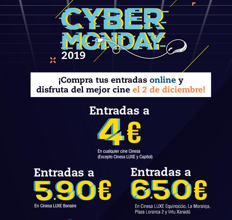 Cinesa: Entradas a 4€ en el CyberMonday ,