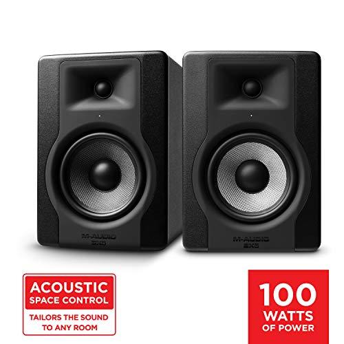 """M-Audio BX5 D3 Par- Monitores profesionales de estudio bidireccional de 100 W con woofer de 5"""" para producción musical y mezcla"""