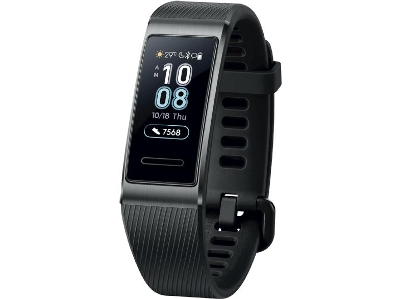 Huawei Band 3 Pro, GPS, Frecuencia cardíaca, Llamadas, Resistente agua, Negro