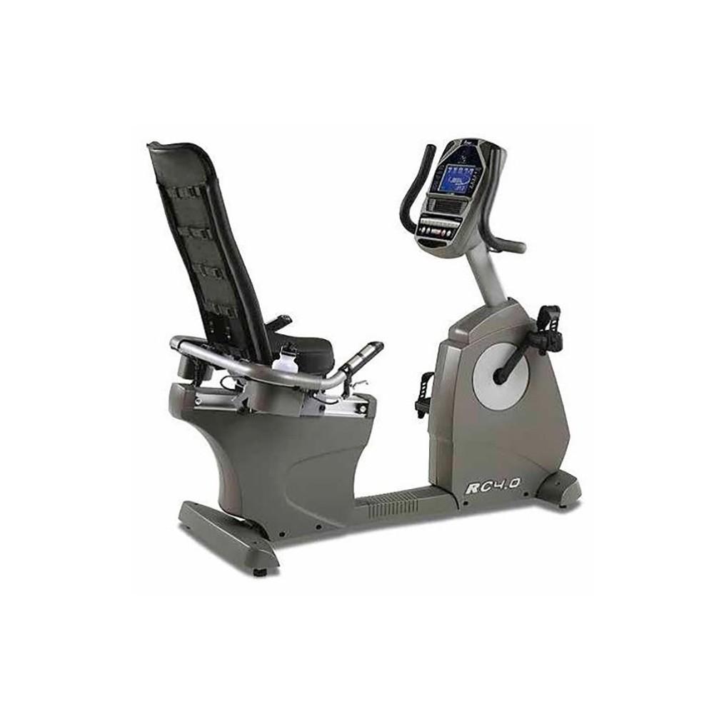 U.N.O. Fitness RC4.0 - Bicicleta Estática/Spinning Con Pantalla Gris