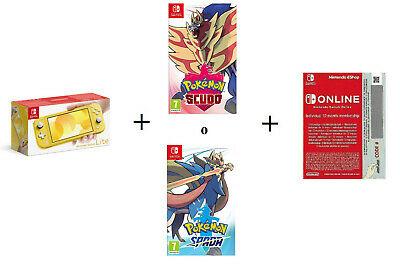 Nintendo switch lite , pokemon y 12 meses online