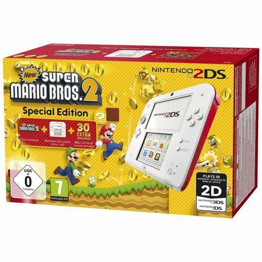 Nintendo 2DS Roja/Blanca + Nuevo Super Mario 2 (preinstalado)