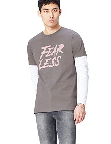 (PLUS) - TALLA M - find. Camiseta Fear Less para Hombre