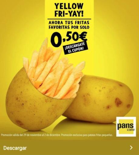 Patatas Fritas a 0'5€ en Pans