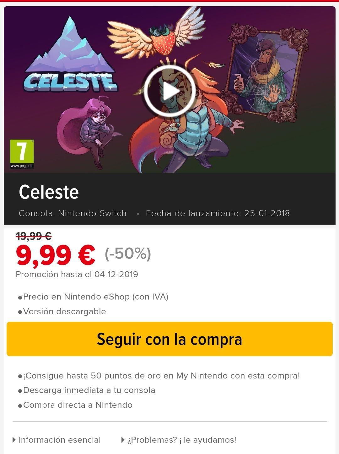 Celeste Nintendo Switch (-50%)