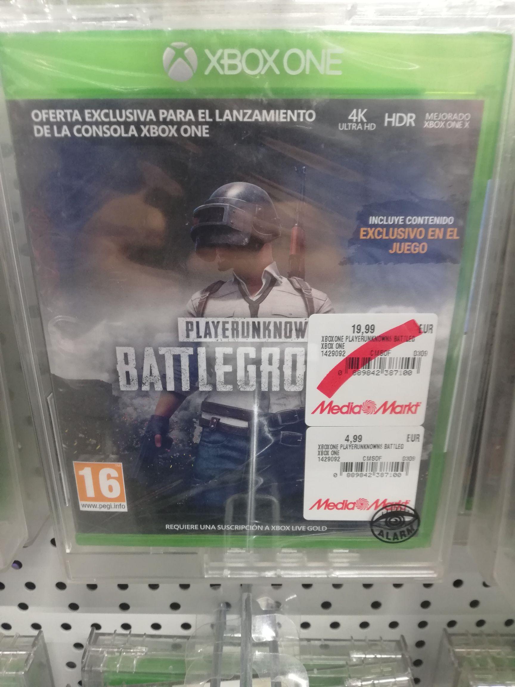 PlayerUnknown's Battlegrounds Xbox One ( mediamarkt Zaragoza)