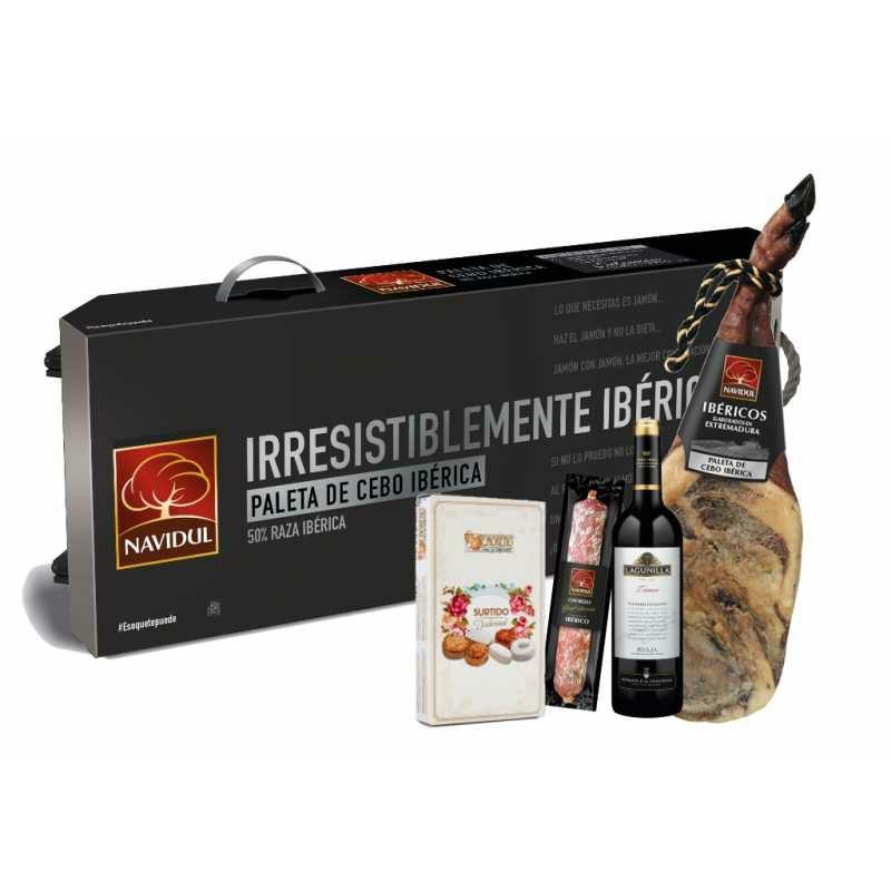 Lote Ibérico - Paleta Ibérica 5KG + Chorizo Ibérico + Rioja + Polvorones