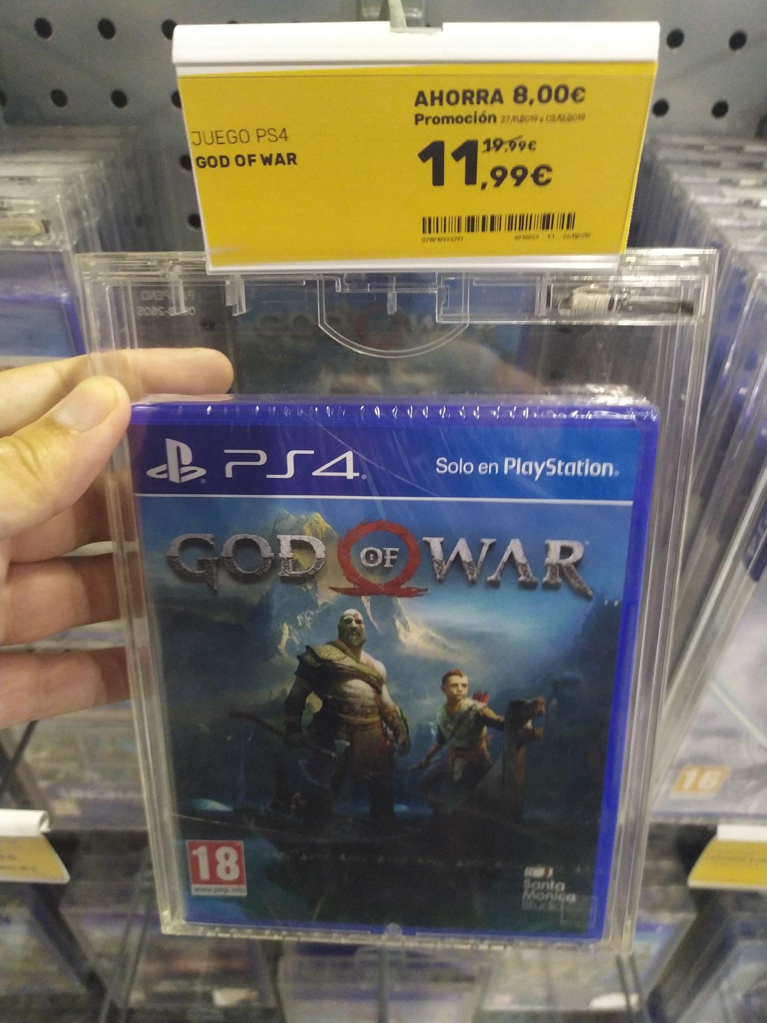 God of War PS4 muy buen precio (worten de cc el trompo/la villa, Tenerife)