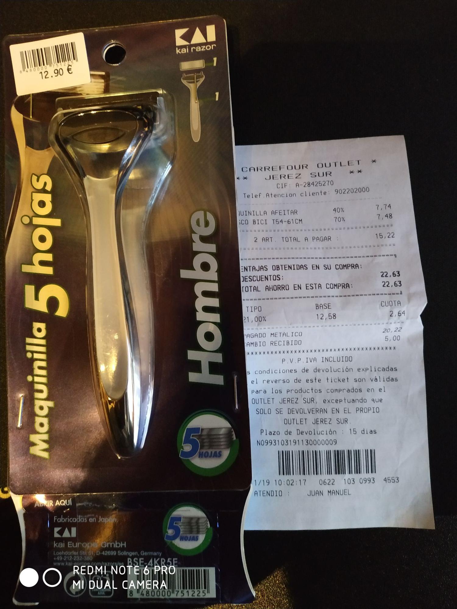 Maquina de afeitar Kai razor + 16 cuchillas