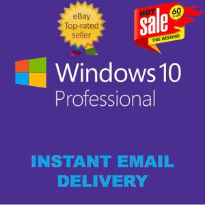 LICENCIA ORIGINAL WINDOWS 10 PRO PROFESSIONAL 32/64bit MULTILENGUAJE
