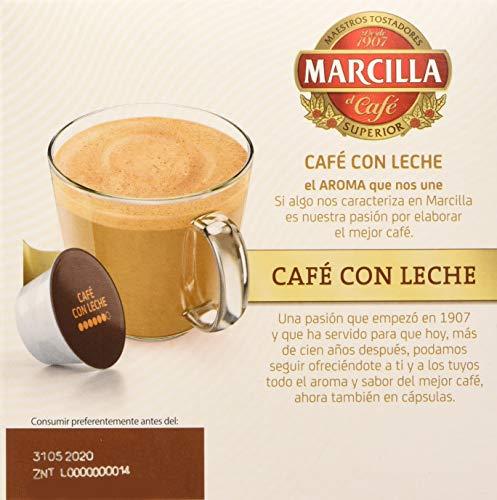 MARCILLA Café con Leche, 3 paquetes de 14 cápsulas Doce Gusto, compra recurrente