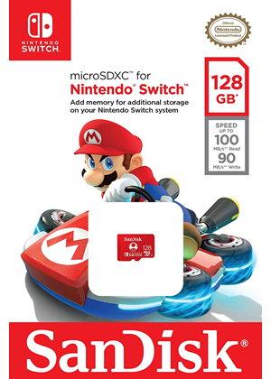 SanDisk 128GB microSDXC con licencia Nintendo®