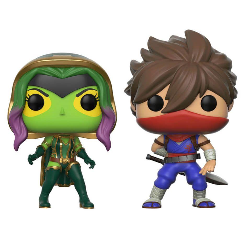 Pack 2 Figuras Pop! Vinyl Gamora vs. Strider - Marvel vs Capcom