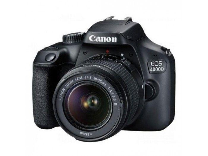 Cámara Canon EOS 4000D 18MP WiFi + EF-S 18-55mm F3.5-5.6 DC III