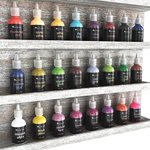 Pintura textil 3D, 24 colores