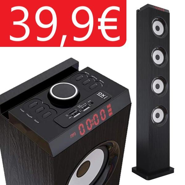Primux TW02 Torre de Sonido Bluetooth 60W Negra
