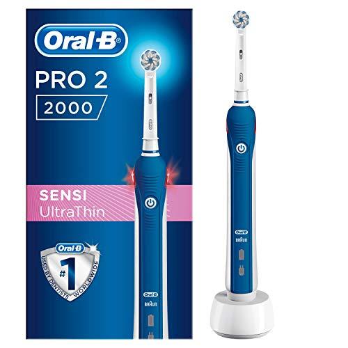Oral-B PRO 2 2000 - Cepillo Eléctrico Recargable con Tecnología de Braun, 1 Cabezal de Recambio
