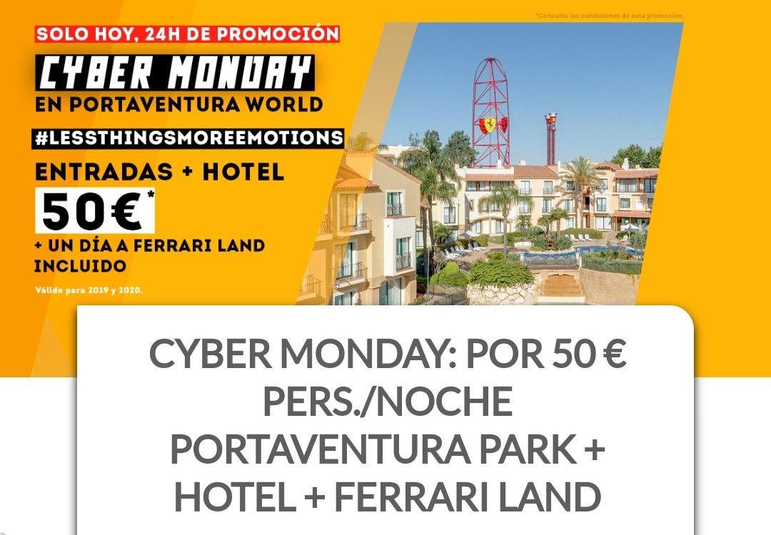 Cyber Monday PortAventura 50€ entrada+hotel.