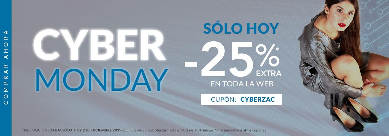 25% por Cyber Monday en Zacaris