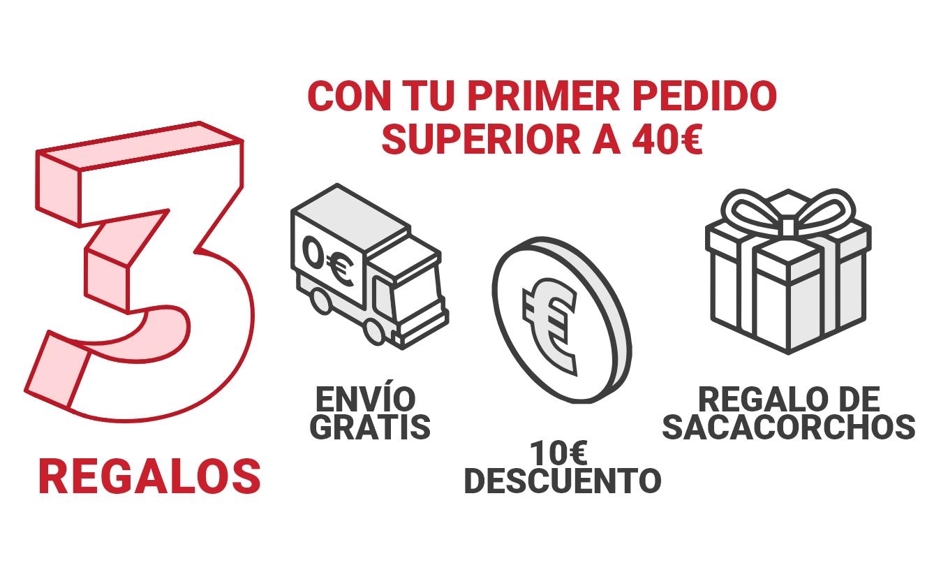 10 euros de descuento + envíos gratis + sacacorchos en Vinoselección [Nuevos Usuarios]