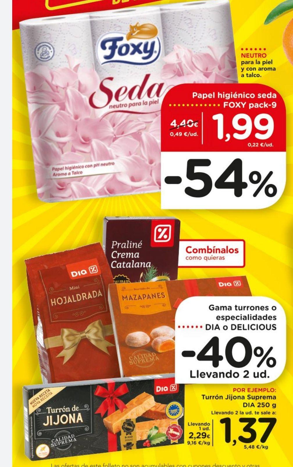 Foxy Seda 9 unidades a 1,99€, 36 lavados de Dixan Polvo por 3,33€ y más ofertones de la semana en la descripción