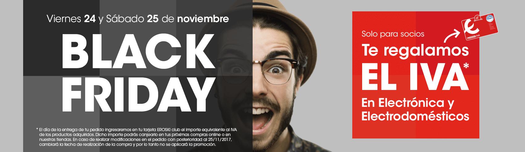 Chollo Black Friday: Eroski devuelve el IVA en Electrónica y Electrodomésticos