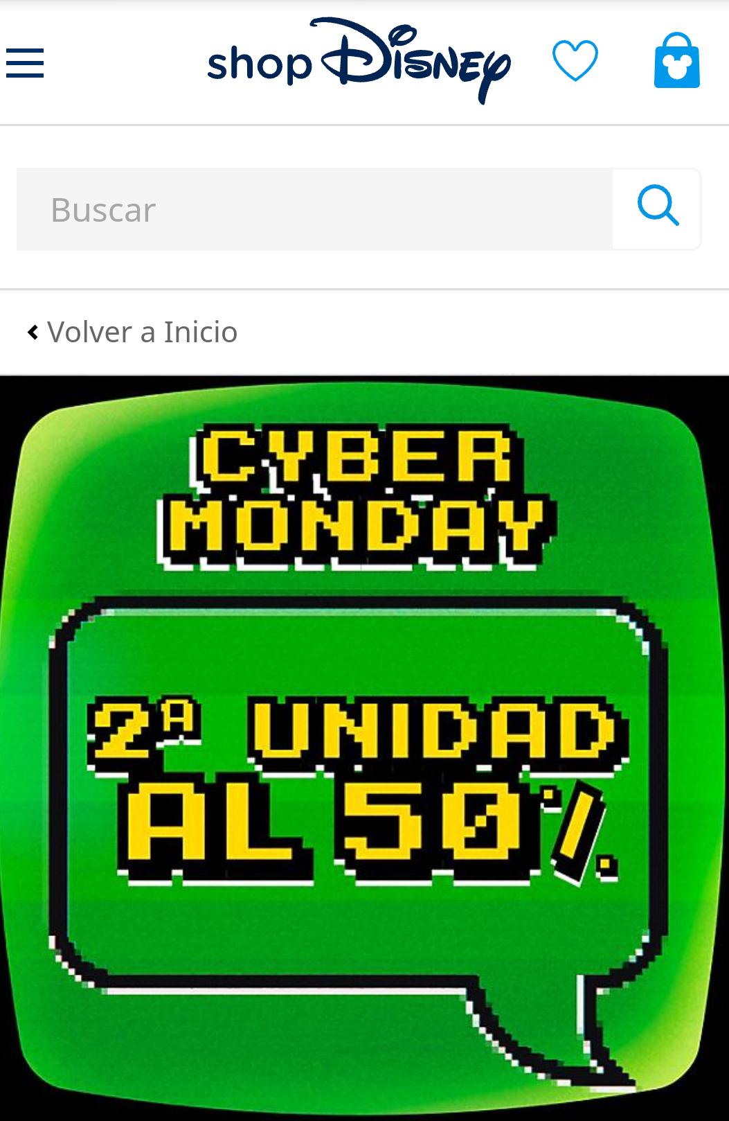 Tienda Disney 2° unidad al 50% - Cyber Monday