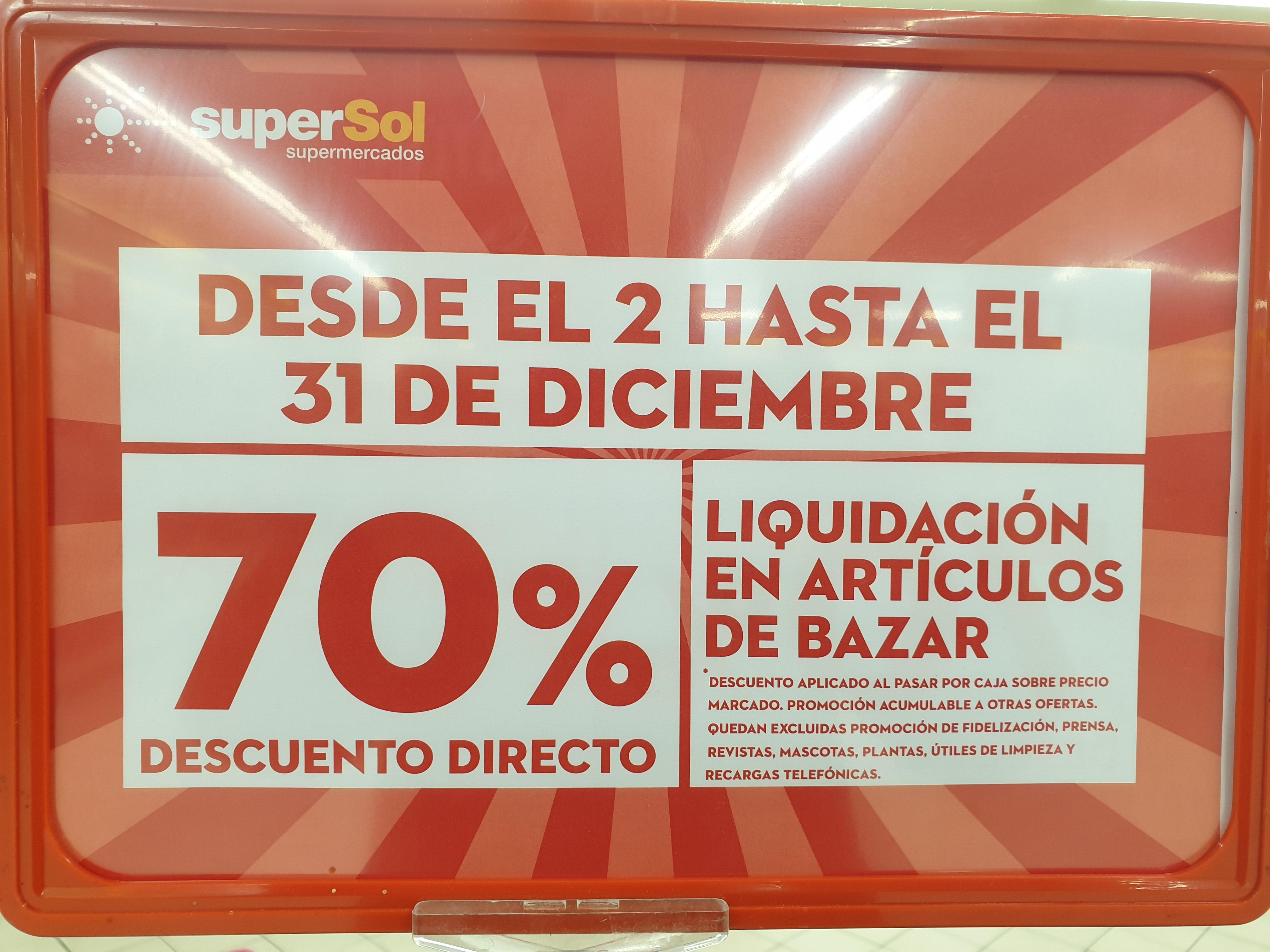70% descuento Bazar Supersol (Guadalajara)