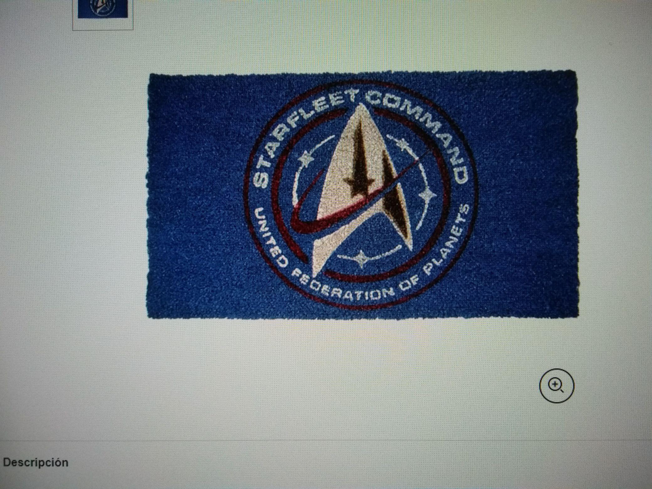 Star Trek Discovery Starfleet Doormat Felpudo