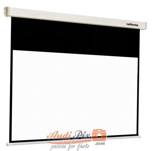 Reflecta CrystalLine Motor Pantalla de proyección 16:9 - Pantalla para proyector (2 m, 152 cm, 16:9, Negro, Blanco)