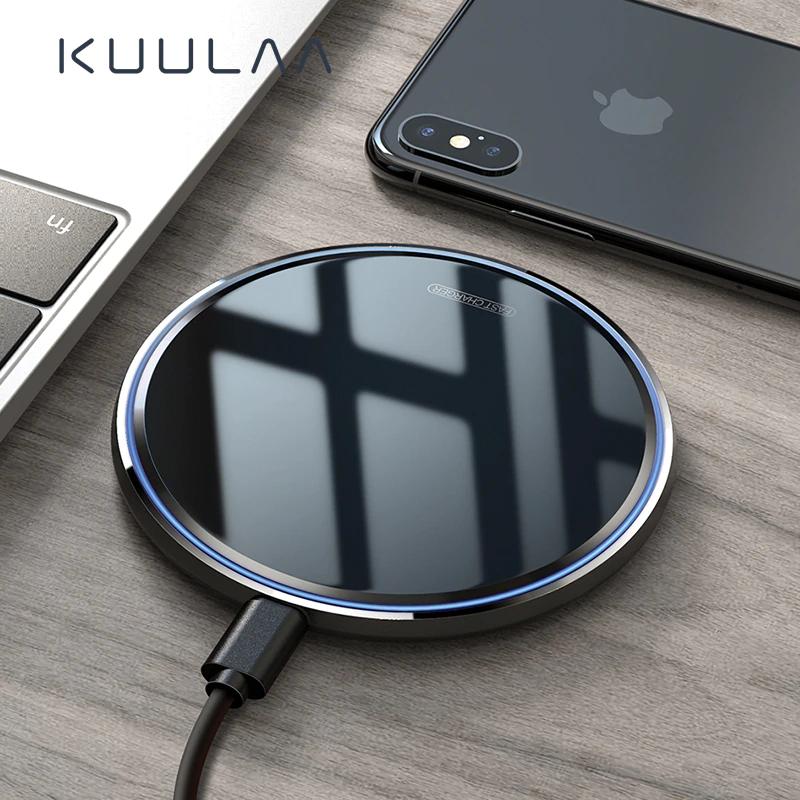 Cargador Inalámbrico Blanco de Carga Rápida para Iphone y Samsung