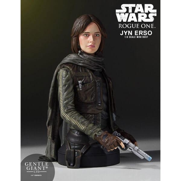 Edicion limitada con certificado de autenticidadGentle Giant Star Wars Jyn Erso (Seal Commander) 1/6 Mini Bust - 16cm