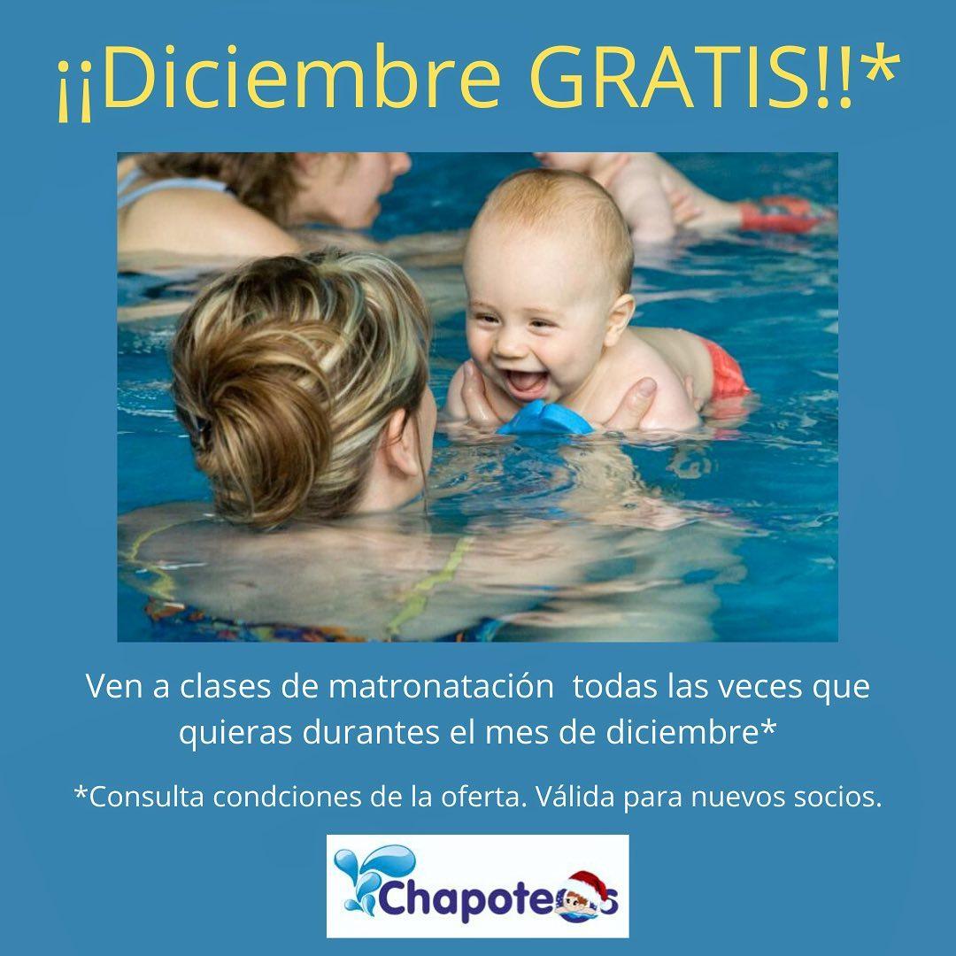 Clases de matronatación GRATIS en Diciembre.