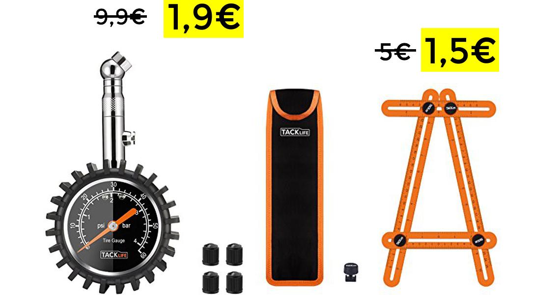 Manómetro Tacklife 0-60 PSI solo 1.9€
