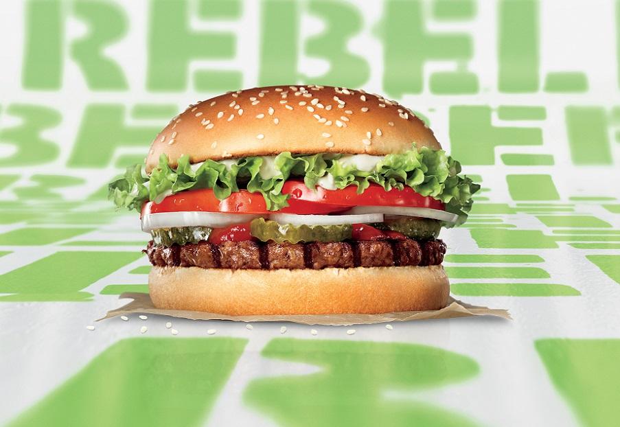 Rebel Whopper+camiseta exclusiva GRATIS Burger King Valencia,Coruña,Málaga,Zaragoza