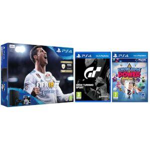 PS4 SLim + Fifa 18 + Gran Turismo + KiP todo por 227€ (Más packs disponibles)