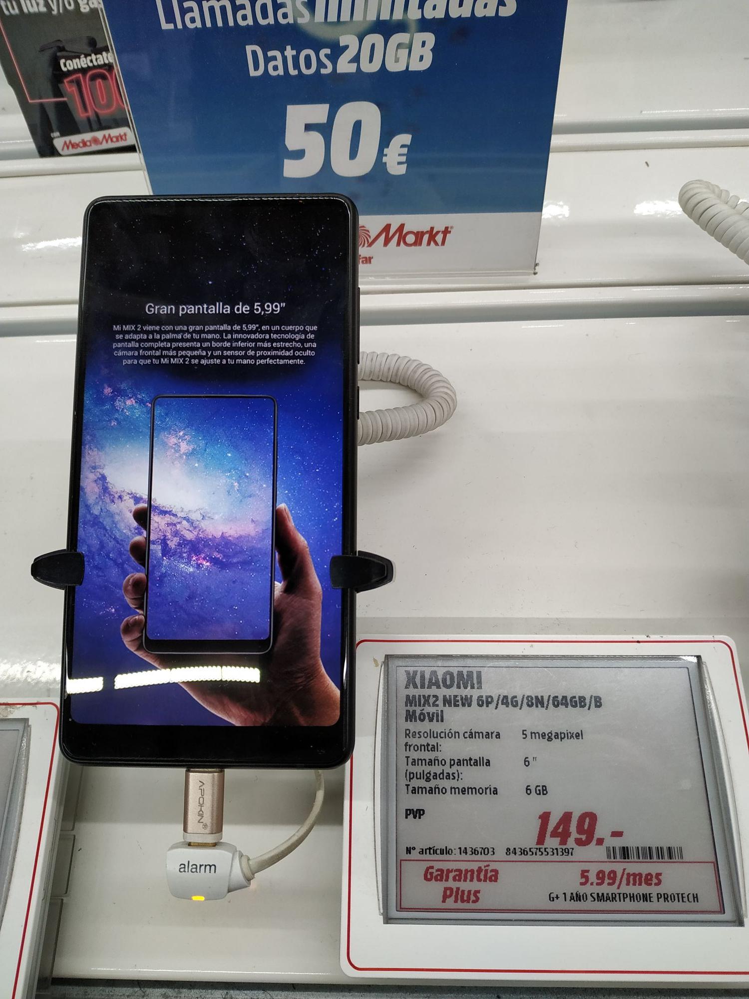 Xiaomi Mi Mix 2 en MediaMarkt Alfafar