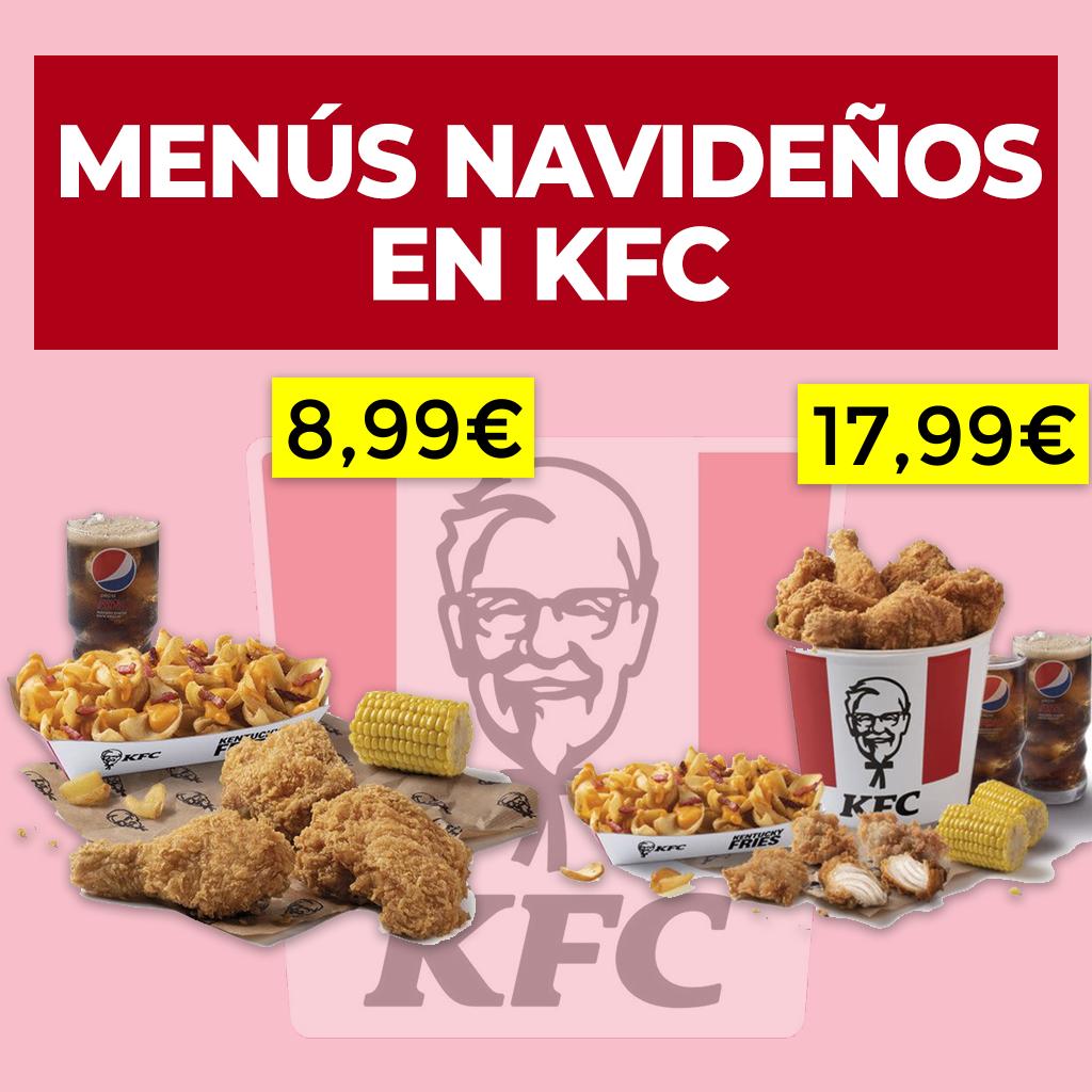 Menús ahorro en KFC por navidad