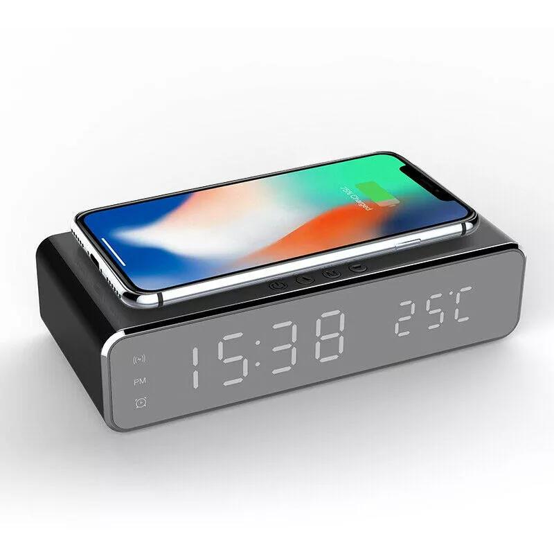 Reloj digital con cargador inalambrico