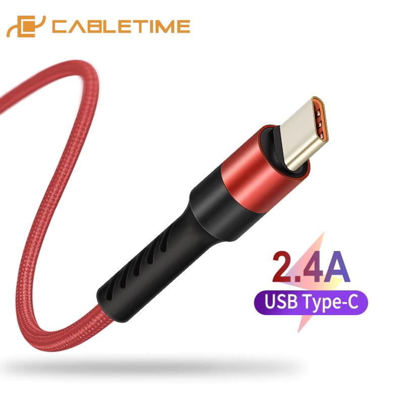 Cable USB Tipo C carga rápida solo 0,9€