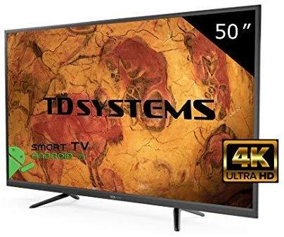 """TD Systems 50"""" Ultra HD 4K Smart TV Reaco """"muy bueno"""" Amazon"""