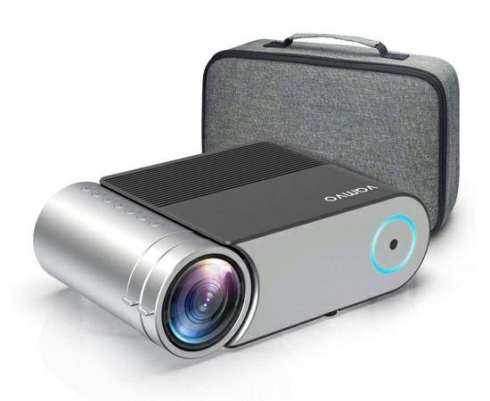 Mini proyector Vamvo L4200, 4000 Lúmenes 1280 x720p, soporte Full HD, HDMI, VGA, AV, USB