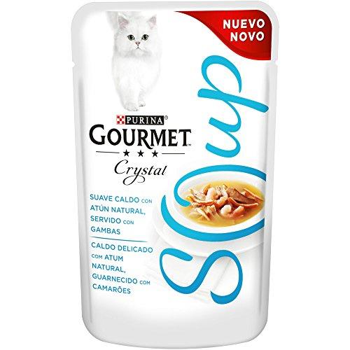 32 x Purina Gourmet Crystal Soup comida para gatos - 40g
