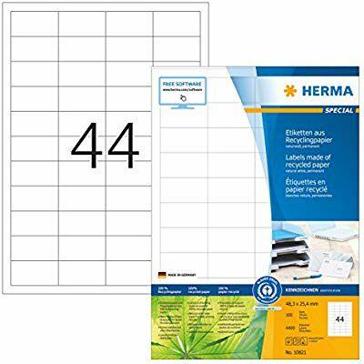 100*44 4.400 Etiquetas Herma [1 REACO COMO NUEVO]