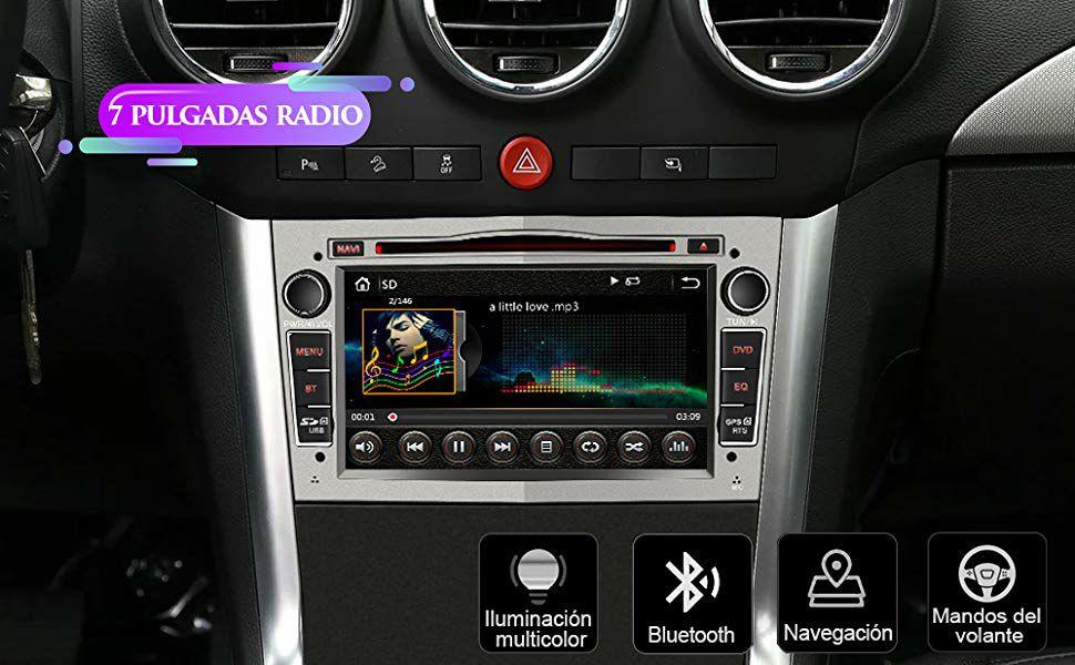 Radio Opel 7 Pulgadas Táctil Bluetooth/GPS/FM/RDS/CD DVD/USB/SD